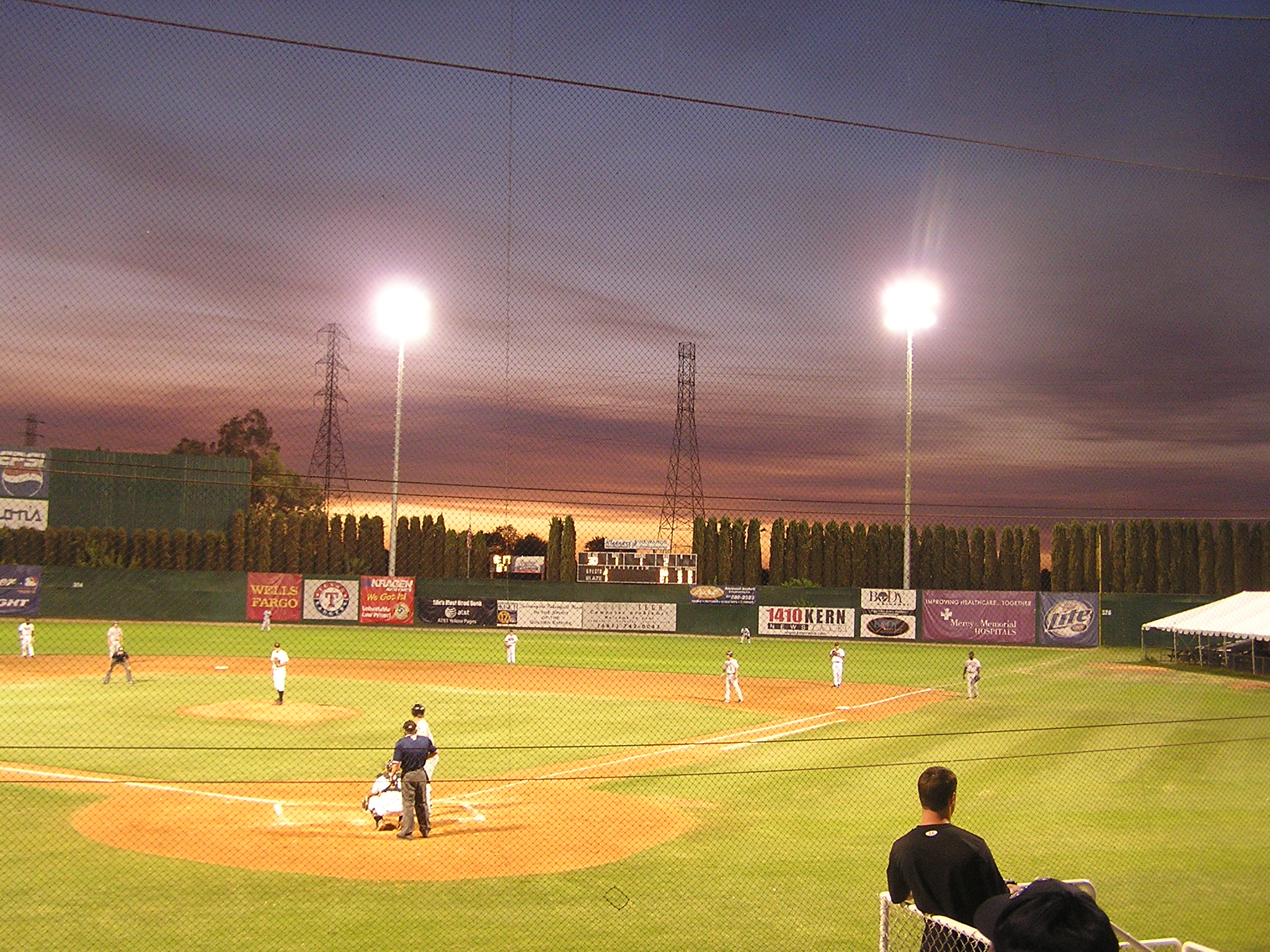 Sunset at Sam Lynn Ballpark - Bakersfield